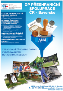 OP Přeshraniční spolupráce ČR - Bavorsko (po klepnutí se otevře leták v PDF)